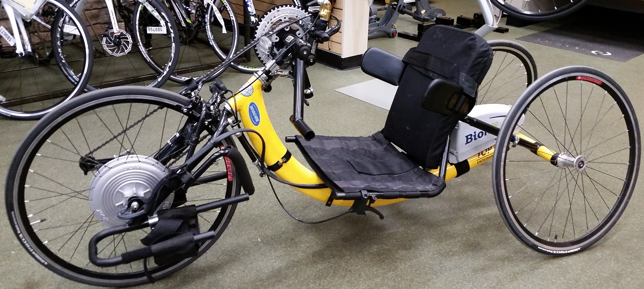 A handcycle.